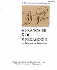 Olivier Faron - Revue française de pédagogie 181, Octobre-Novembr : .