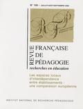 Bernard Delvaux et Agnès Van Zanten - Revue française de pédagogie N° 156 ; juillet-aoû : Les espaces locaux d'interdépendance entre établissements : une comparaison européenne.