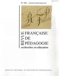 François Jacquet-Francillon et Jean-Yves Rochex - Revue française de pédagogie N° 158, Janv-Fevr-Ma : Recherches en éducation.