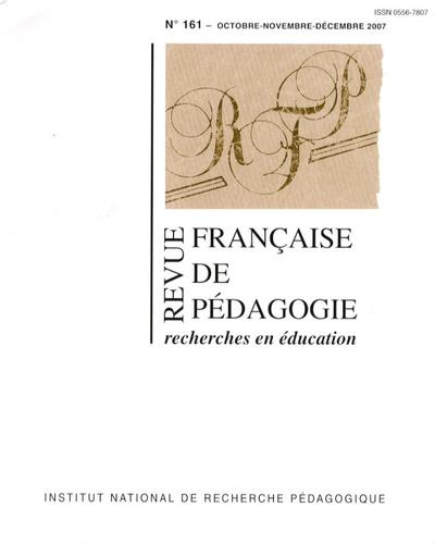 Marie Duru-Bellat - Revue française de pédagogie N° 161 - octobre-nov : .