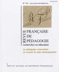 Jean-Yves Rochex et François Jacquet-Francillon - Revue française de pédagogie N° 172, Juillet-Août : La pédagogie universitaire : un courant en plein développement.