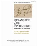 Guy Brucy et Fabienne Maillard - Revue française de pédagogie N° 180, Juillet à se : Le CAP : regards croisés sur un diplôme centenaire.