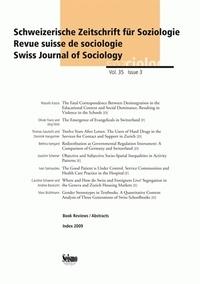 Christian Imdorf et Mona Granato - Revue suisse de sociologie Volume 36 N° 1/2010 : .