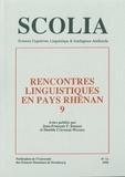 Jean-François Bonnot et Danielle Crévenat-Werner - Scolia N° 11/1998 : Rencontres linguistiques en pays rhénan 9.