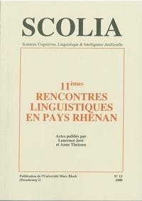 Laurence José et Anne Theissen - Scolia N° 13/2000 : 11e Rencontres linguistiques en pays rhénan.
