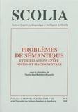 Marie-José Reichler-Béguelin - Scolia N° 5/1995 : Problèmes de sémantique et de relations entre micro- et macro-syntaxe.