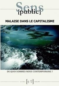 Gérard Wormser - Sens public N° 11-12, octobre 20 : Malaise dans le capitalisme - De quoi sommes-nous contemporains ?.
