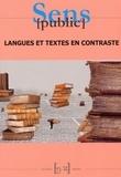 Hans Kronning et Coco Norén - Sens public N° 13-14 : Langues et textes en contraste.