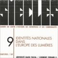 Daniel Martin - Siècles N° 9/1999 : Identités nationales dans l'Europe des Lumières.