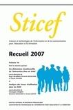 Roger Nkambou et Elisabeth Delozanne - Sticef N° 14 : Recueil 2007.