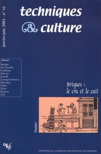 Maison Sciences de l'homme - Techniques & culture N° 41 Janvier-Juin 2 : Brique - Le cru et le cuit.