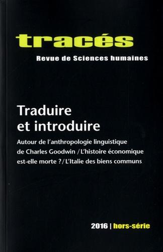 Pierre Charbonnier - Tracés Hors-série : Traduire et introduire.