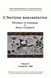 Collectif d'auteurs - Archipel N° 60/2000 : L'horizon noustarien - Mélanges en hommage à Denys Lombard Tome 4.
