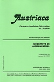 Jacques Le Rider - Austriaca N° 37, Décembre 1993 : Modernité de Hofmannsthal.