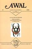 Mouloud Mammeri - Awal N° 39, 2008 : La culture en héritage - Modes de production et de transmission de la culture en Afrique du Nord.