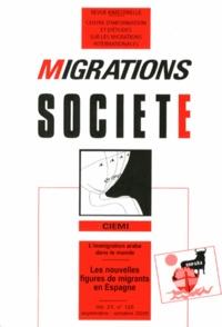 Chadia Arab et Juan David Sempere Souvannavong - Migrations Société Volume 21 N° 125, Se : Les nouvelles figures de migrants en Espagne.