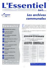 CIFODEL - L'Essentiel sur... N° 98, Mars-Avril 20 : Les archives communales.