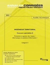 CIG petite couronne - Ingénieur territorial concours spécialités 2 - Prévention et gestion des risques, informatique et systèmes d'information - Catégorie A.