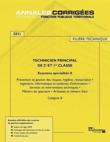 CIG petite couronne - Technicien principal de 1re et 2e classe examens spécialité 2 - Catégorie B.