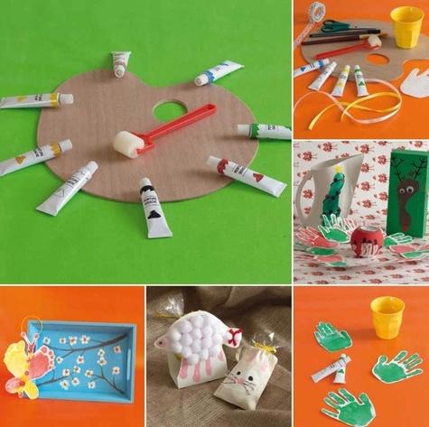 Des idées cadeaux à créer avec des empreintes de mains