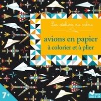 Cinzia Sileo et Jean-Gabriel Jauze - Avions en papier à colorier et plier.