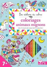 Coloriages animaux mignons - Carnet avec 10 crayons de couleur dont 5 couleur fluo!.pdf