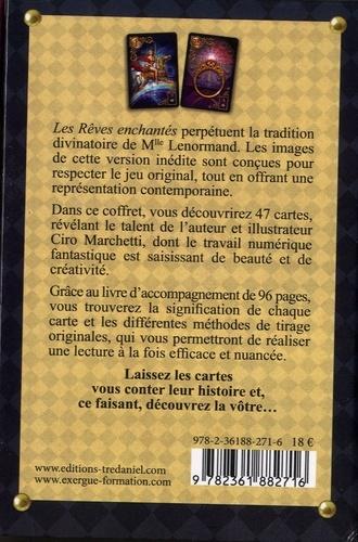 Coffret Les rêves enchantés de Lenormand. Contient 1 livre et 47 cartes