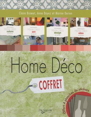 Claire Browet et Anne Dayez - Coffret Home Déco - Nature; Zen; Design; Rétro.