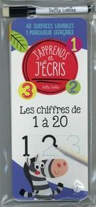 Claire Chabot et Danielle Robichaud - Les chiffres 1 à 20 - Avec 40 surfaces lavables et 1 marqueur effaçable.