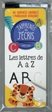Claire Chabot et Danielle Robichaud - Les lettres de A à Z - Avec 40 surfaces lavables et 1 marqueur effaçable.