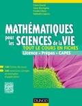 Claire David et Sami Mustapha - Mathématiques pour les sciences de la vie - 140 fiches de cours, 200 exercices corrigés et exemples d'applications.
