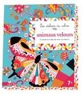 Claire de Moulor - Animaux velours à colorier et à décorer avec du velours ! - Avec 8 feuilles de velours.