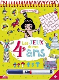Claire de Moulor et  Lili la Baleine - Les jeux de mes 4 ans - Avec 1 feutre effaçable.