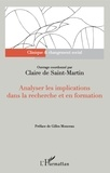 Claire de Saint-Martin - Analyser les implications dans la recherche et en formation.