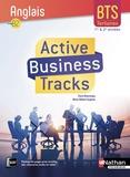 Claire Delarocque et Marie-Hélène Fougeron - Anglais B2 BTS tertiaires 1re et 2e années Active Business Tracks.