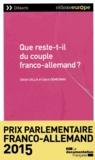 Claire Demesmay et Cécile Calla - Que reste-t-il du couple franco-allemand ?.