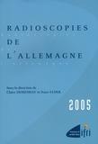 Claire Demesmay - Radioscopies de l'Allemagne.