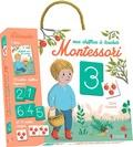 Claire Frossard et Céline Santini - Mes chiffres à toucher Montessori - Coffret livre + 10 cartes chiffres rugueuses + 11 cartes images.