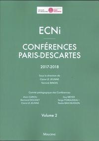 ECNI- Conférences Paris-Descartes 2017-2018 Volume 2 - Claire Le Jeunne |