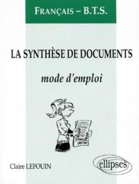 Histoiresdenlire.be La synthèse des documents Français BTS - Mode d'emploi Image