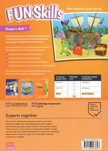 Fun skills 1. Student's book with home book. With audio download