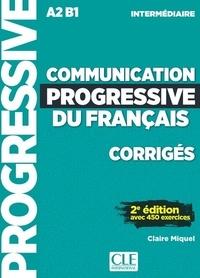 Claire Miquel - Communication progressive du français intermédiaire A2-B1 - Corrigés.