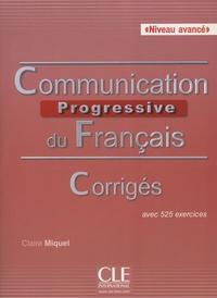 Communication progressive du français Niveau avancé - Corrigés avec 525 exercices.pdf