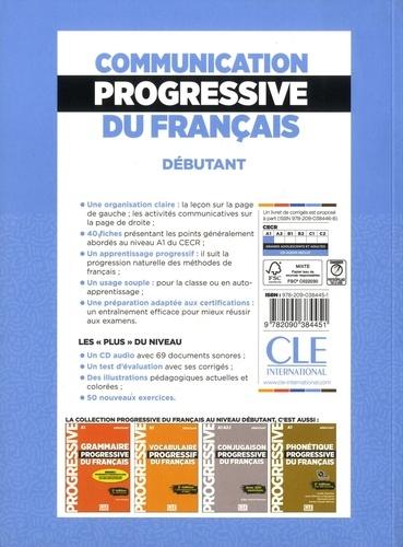 Communication progressive du français niveau débutant 2e édition -  avec 1 CD audio