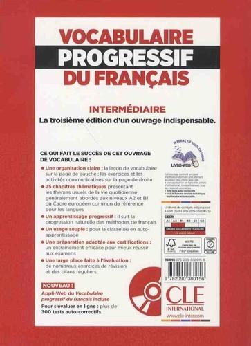 Vocabulaire progressif du français Niveau intermédiaire A2-B1 3e édition -  avec 1 CD audio