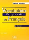 Claire Miquel - Vocabulaire progressif du français - Niveau débutant. 1 CD audio