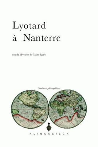 Claire Pagès - Lyotard à Nanterre.