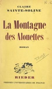 Claire Sainte-Soline - La montagne des alouettes.