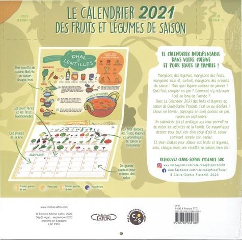 Le calendrier des fruits et légumes de saison. Avec 12 recettes illustrées de saison  Edition 2021
