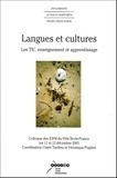 Claire Tardieu et Véronique Pugibet - Langues et cultures - Les TIC, enseignement et apprentissage. 1 Cédérom